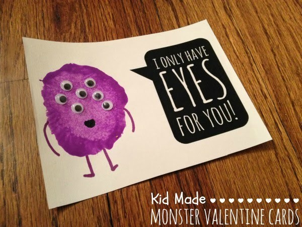 Monster Valentine Card Idea