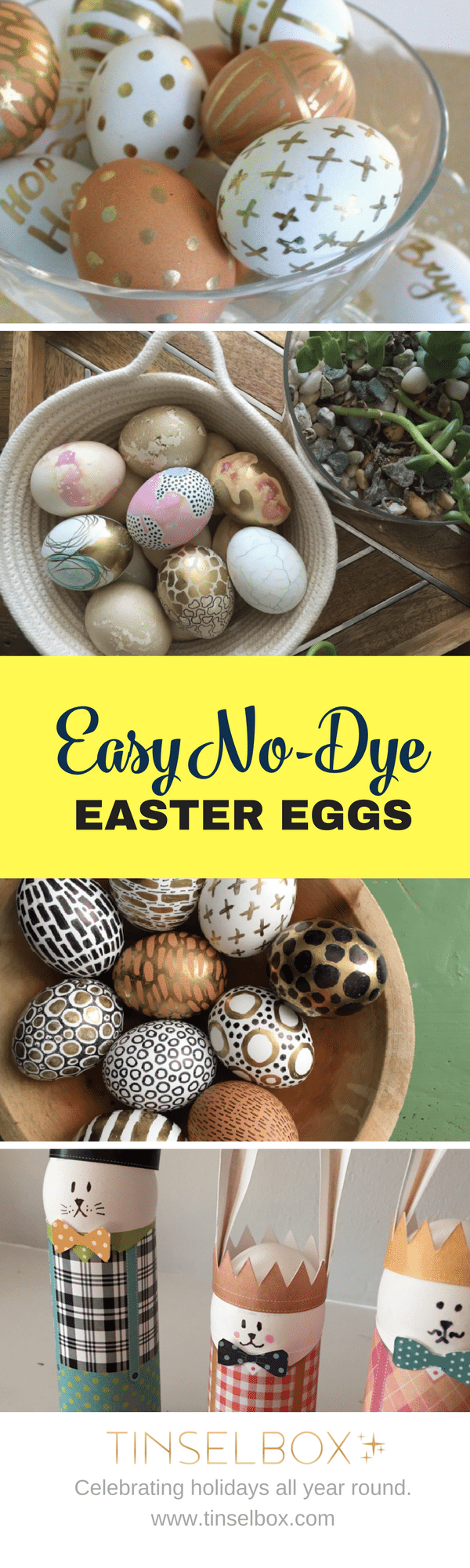 Easy no dye easter eggs