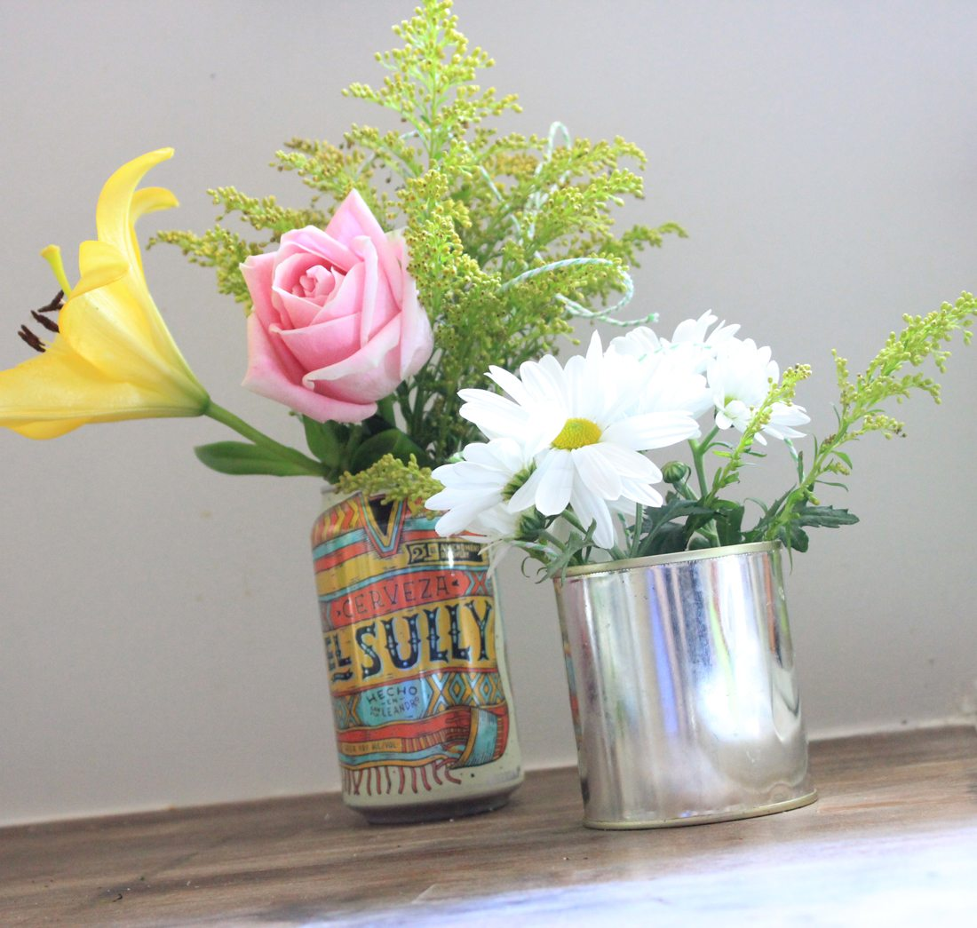 May day flower baskets anyone can make for their friends or canofflowersproject flowers beercanflowervase canofflowers reviewsmspy