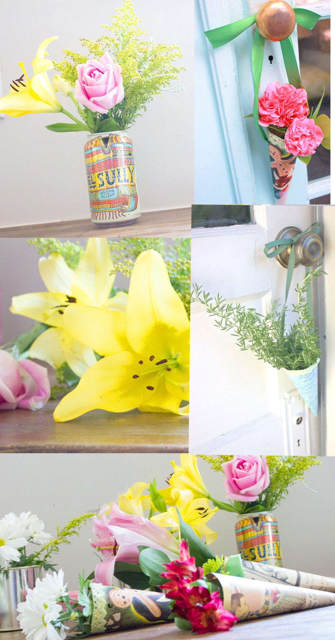 May Day Flower Baskets Anyone Can Make For Their Friends Or