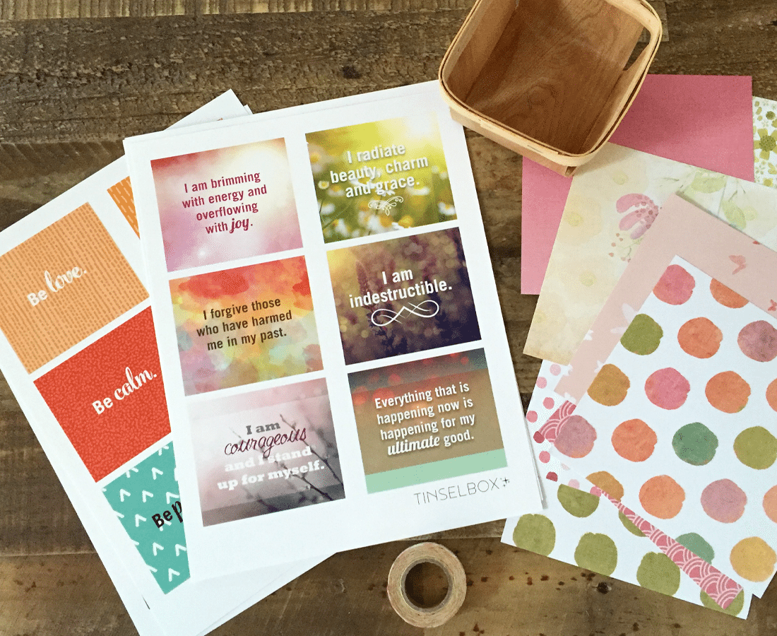 Affirmation cards to pamper your self esteem printable