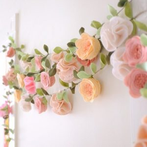 Floral garland in felt
