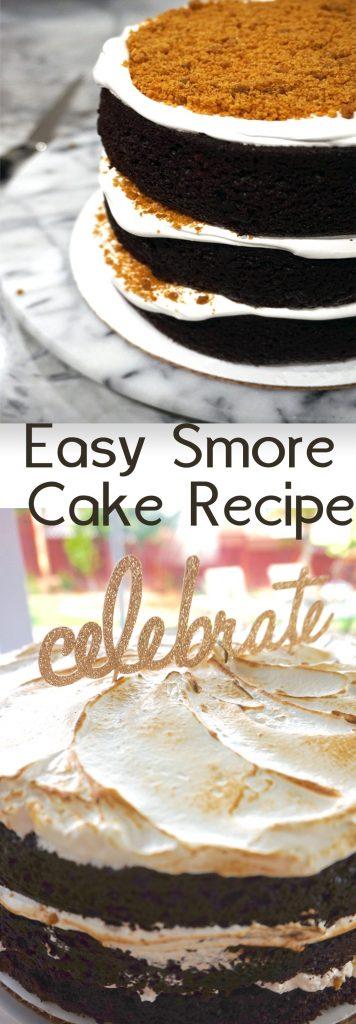 Smores Cake Recipe Pin