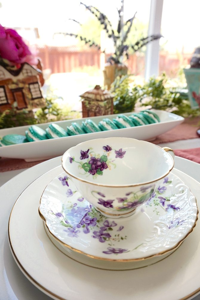 garden party tea cups