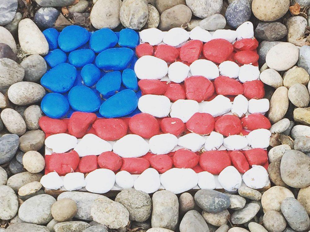 american rock garden flag