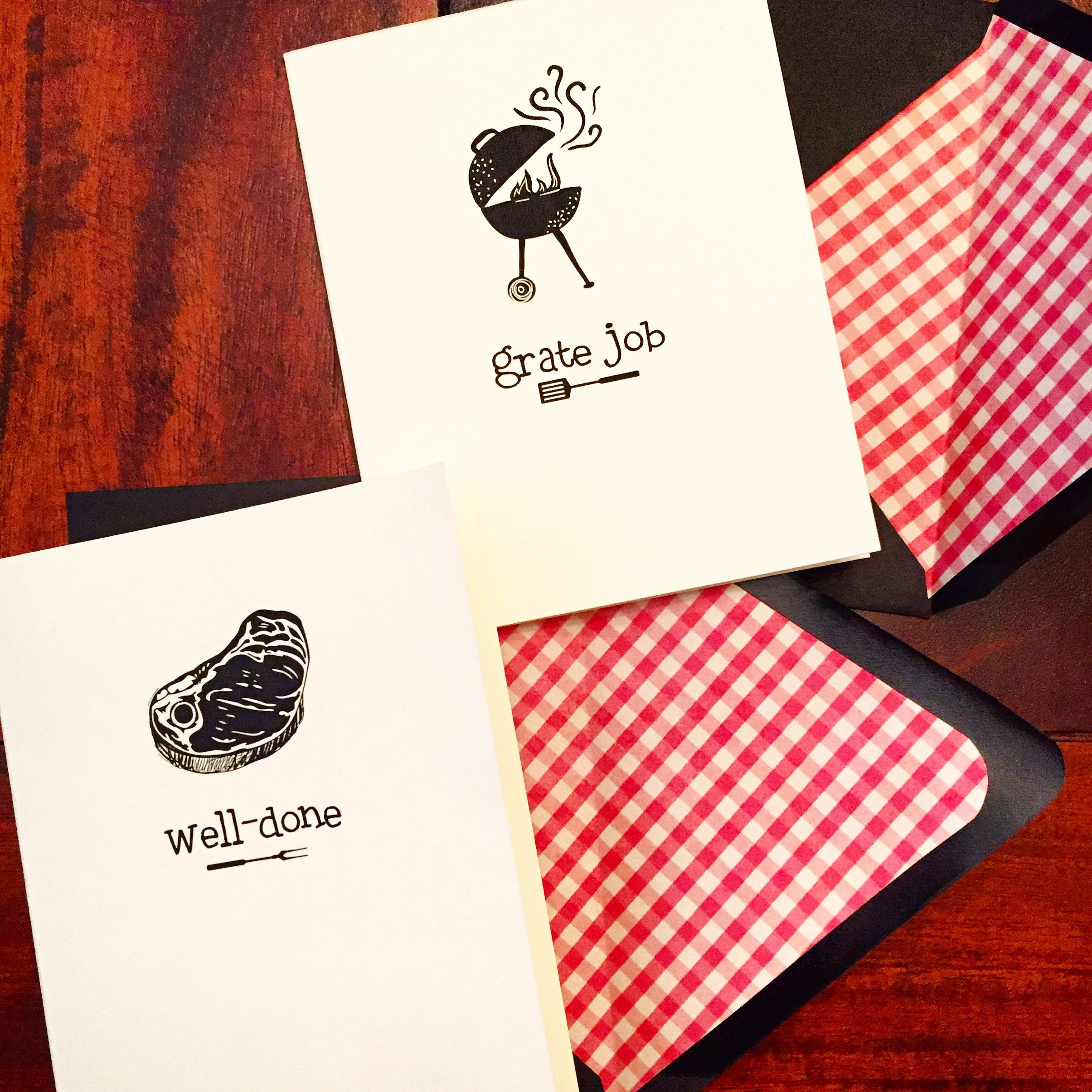 BBQ thank you cards