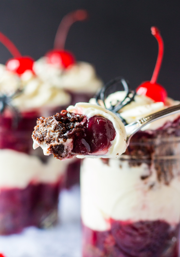 Black Forest Brownie Cheesecake Trifles