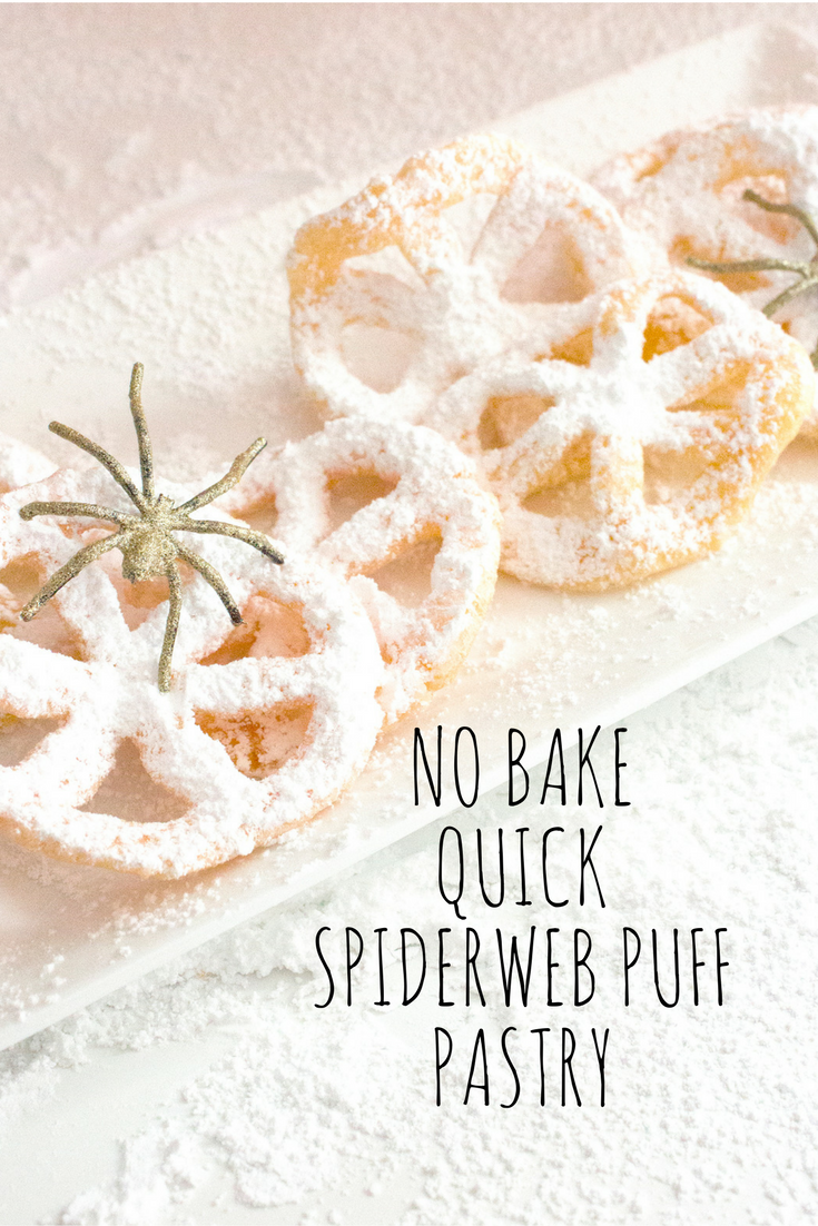 No Bake, Quick, Spiderweb Puff Pastry. These are so sweet, fluffy and easy to make. These are on my list for Halloween!