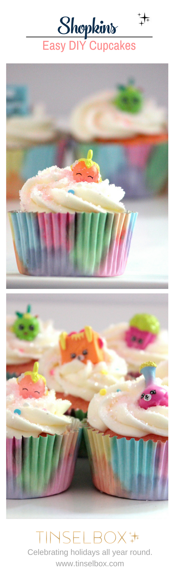 Shopkins Easy DIY Cupcakes - Simple and delicious