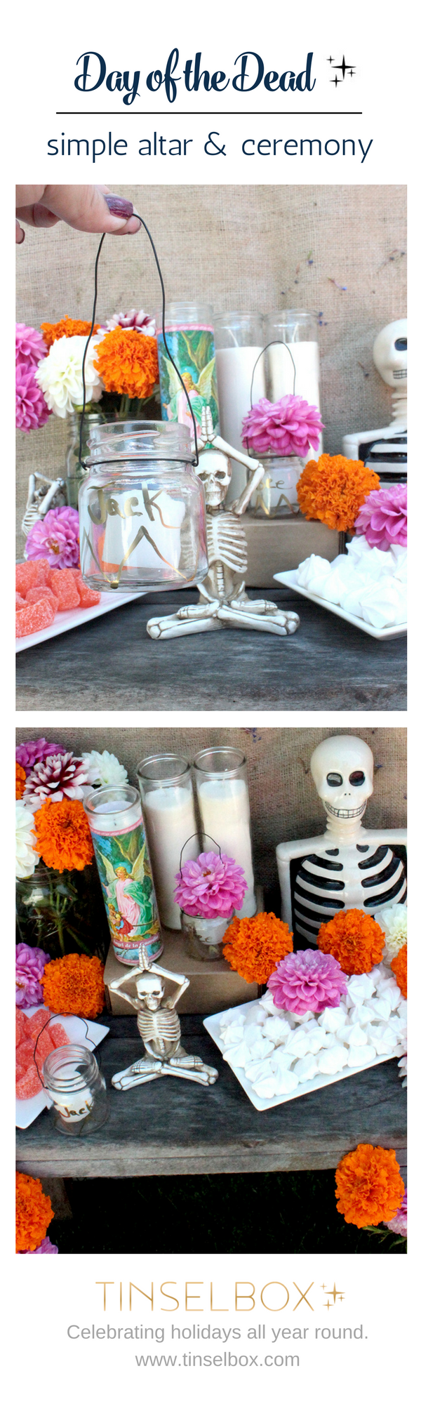 Simple Day of the Dead Altar and Ceremony.