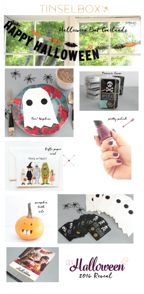 Tinselbox is a subscription box which literally sends you holiday cheer. Love this Halloween box filled with unique and whimsical surprises.