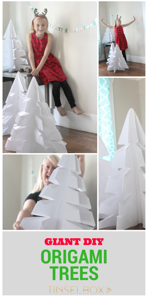 DIY Giant Origami Tree for Christmas or Winter Decor