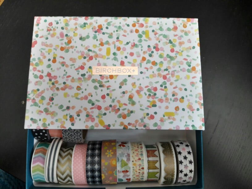 Washi Tape Birch Box Organizer