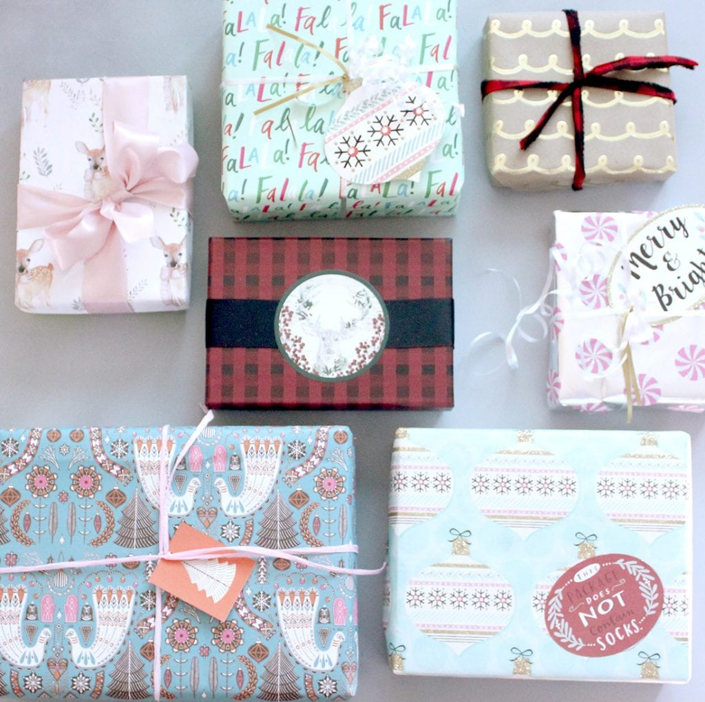 Mix and match wrapping paper ideas