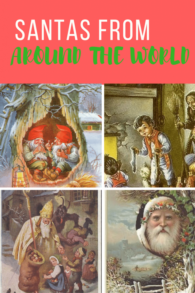 Check out the illustrations and details about Santas all around the world.