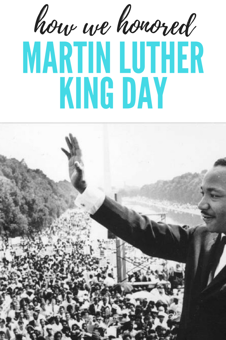 How we celebrated Martin Luther King Day.