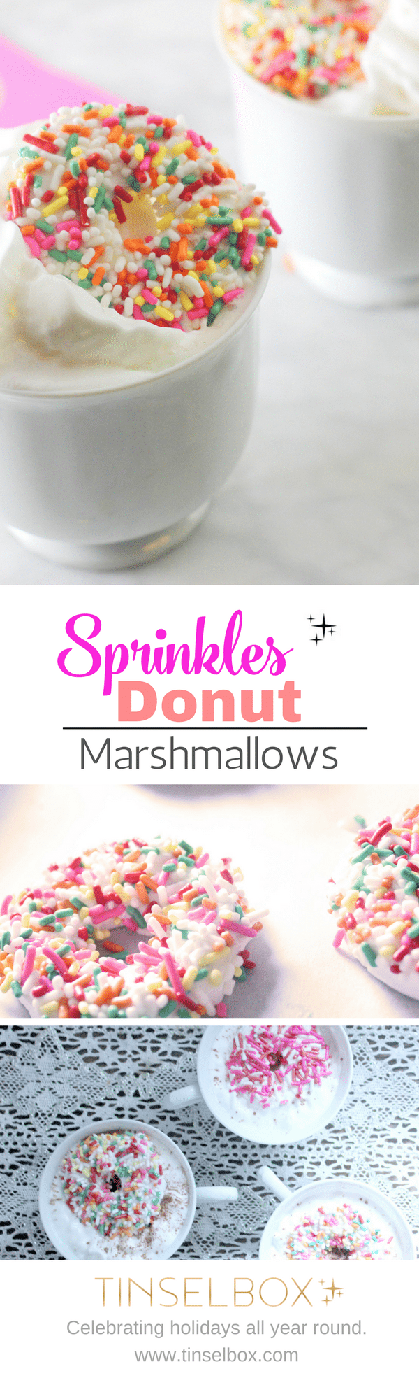 Sprinkles Donut Marshmallows are so fun for your hot cocoa
