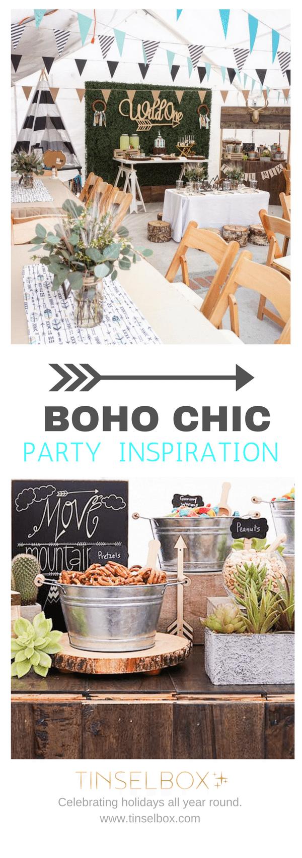 Boho Chic Party - Wild One Birthday inspiration