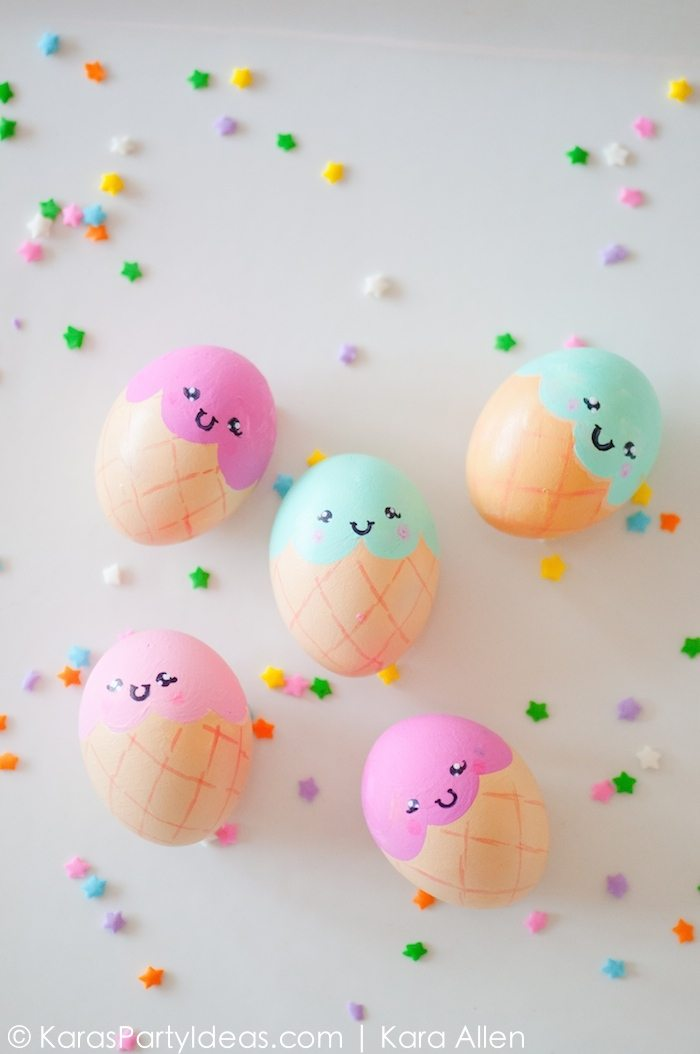 Ice Cream Cone Easter Eggs Kara S Party Ideas