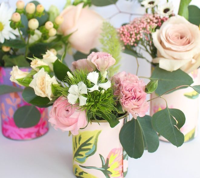 diy flower arrangements reuse repurpose