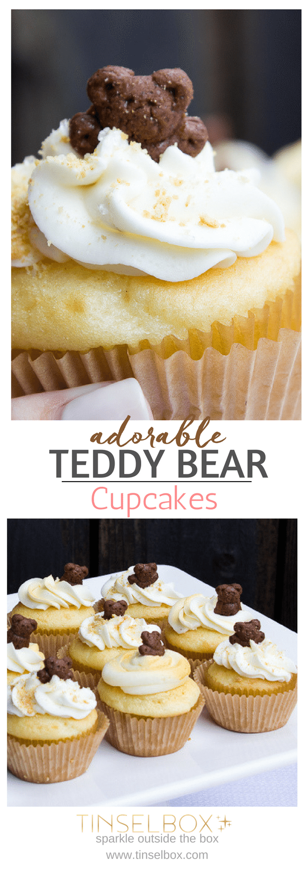 Teddy Graham Cupcakes - Teddy Bear