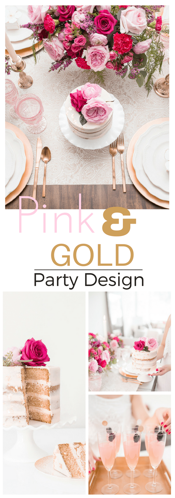 Pink and Gold Party Design