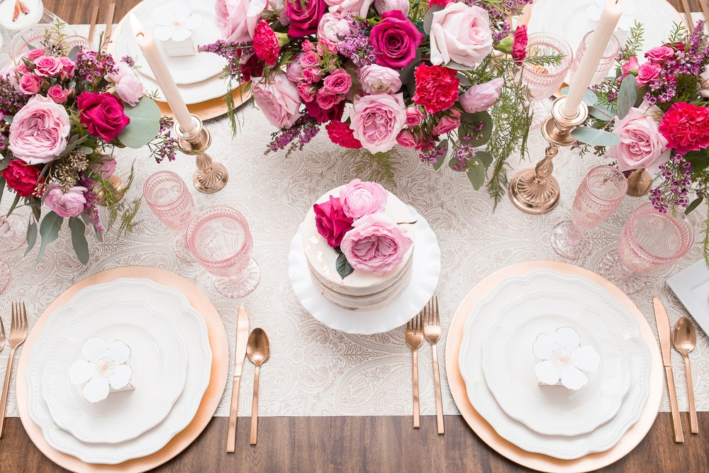 pink and gold party pretty bridal showers and birthdays