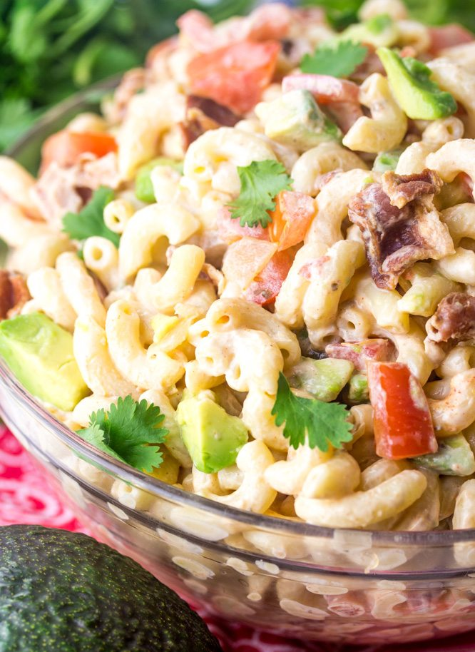 Southwest Tomato Bacon Pasta Salad