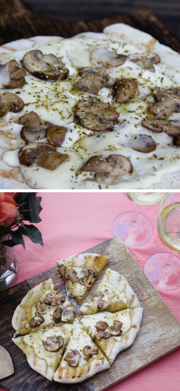 Grilled Asiago Mushroom Herb Pizza(1)
