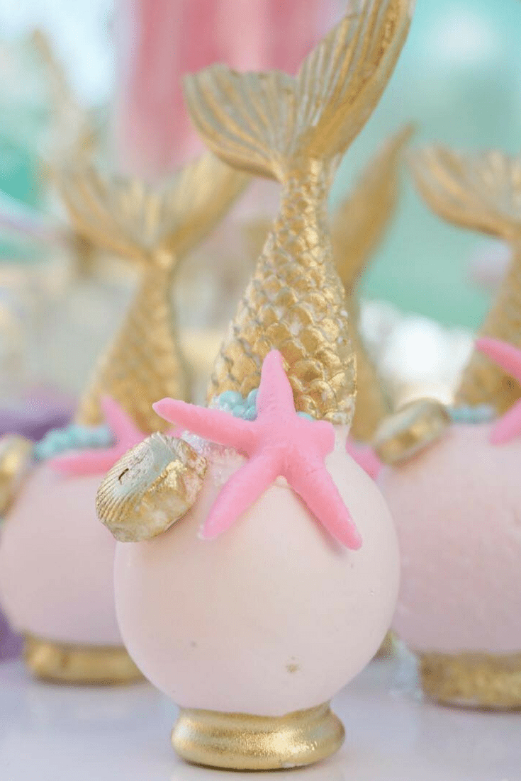 Magical Under the Sea Party Inspiration - Mermaids, mint green with gold accents. This party is so pretty.