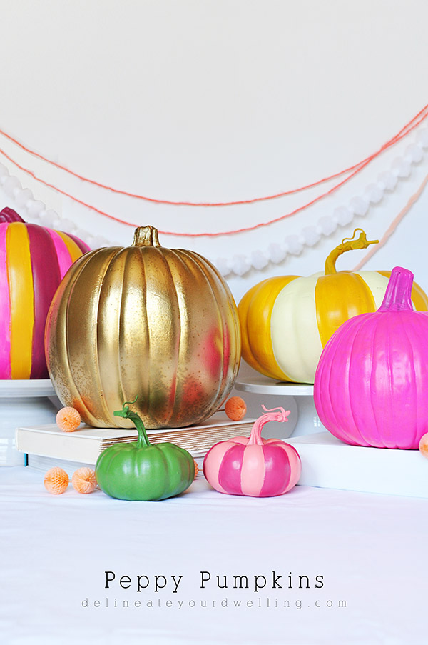 DIY Preppy Peppy Painted Pumpkins
