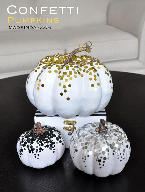 20 perfectly painted pumpkins for Halloween. Darling DIY.