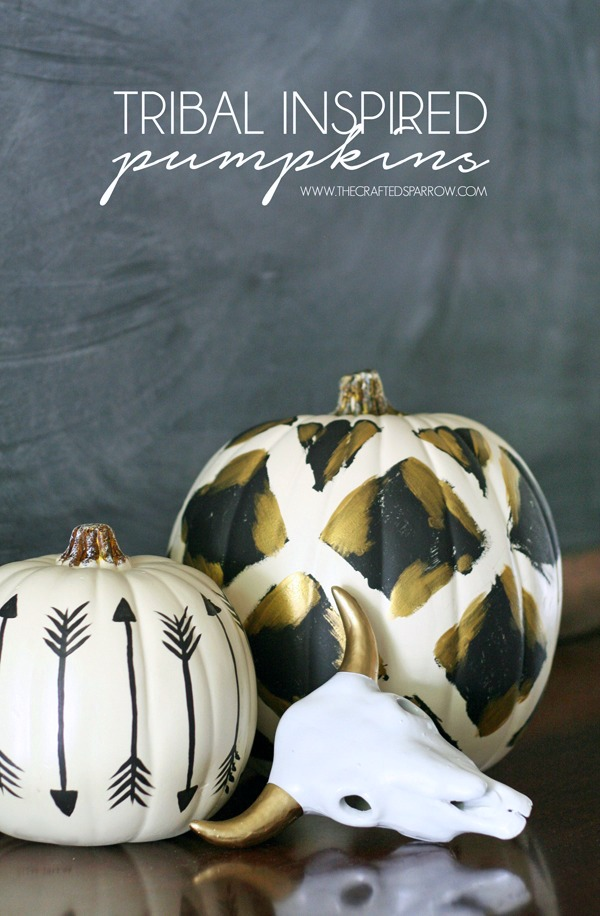 Painted Pumpkin DIY tribal pattern