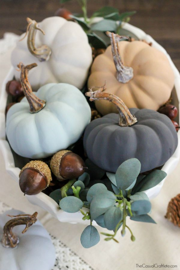 Chalky Paint Pumpkins