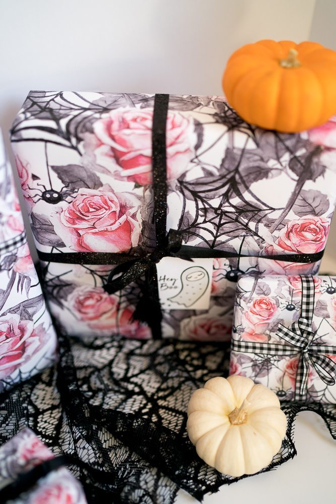 in honor of these amazing october birthdays i wanted to create the perfect halloween birthday present gift wrap