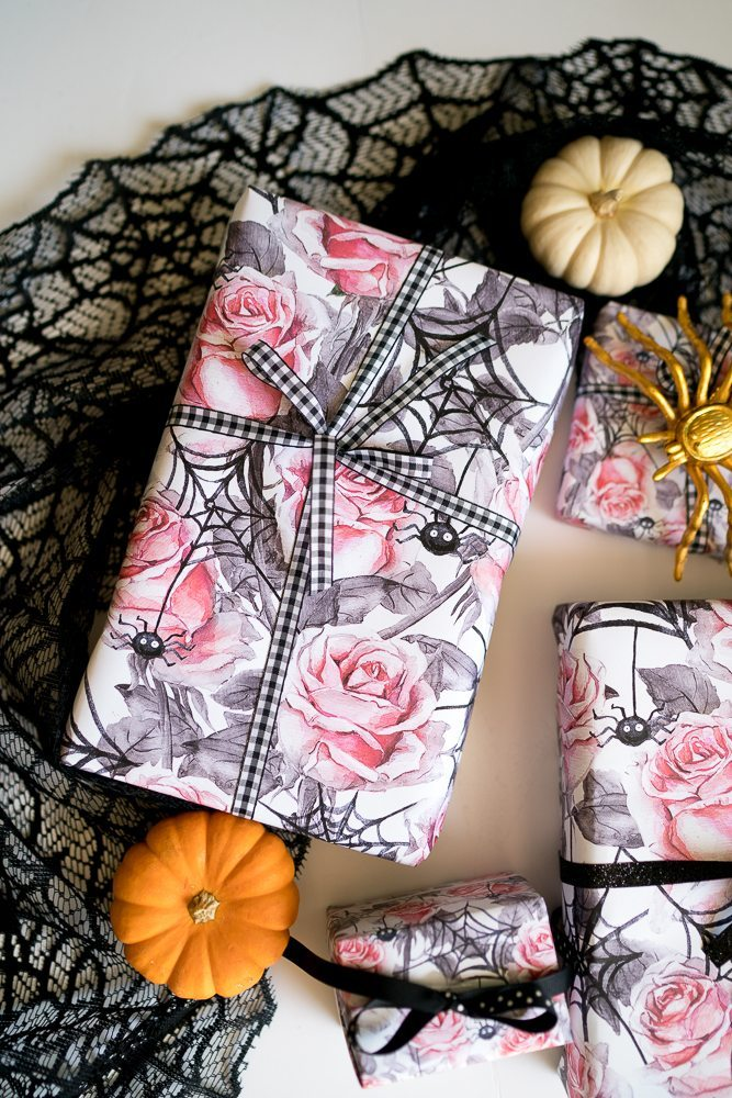 Adorable halloween birthday gift wrap free printable tinselbox put the file on usb and take it down to staples or office max ask them to print on blueprint paper it is about 4 5 and it gives you a giant sheet malvernweather Image collections