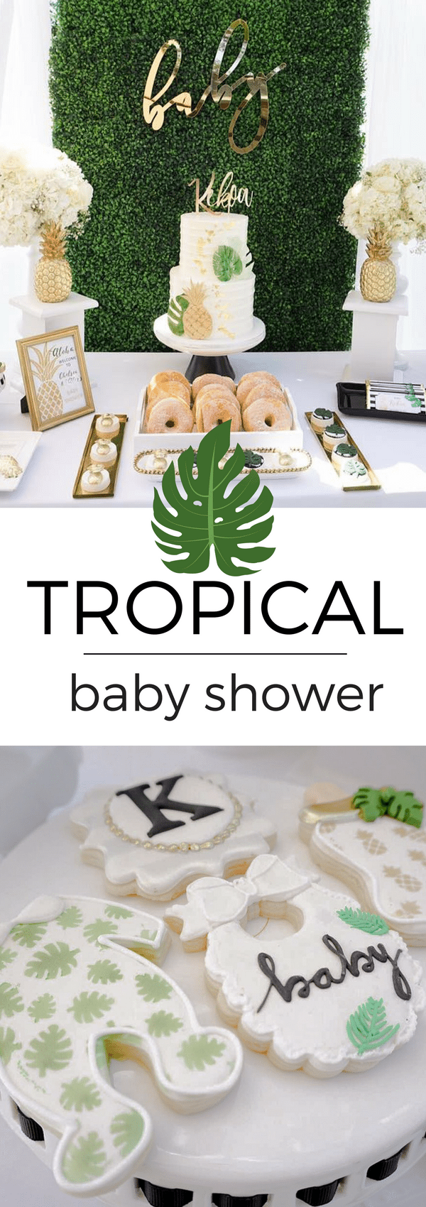 This tropical, hawaiian baby shower had the guests cheering with delight. Filled with golden treats and tropical party ideas, this event was one to remember.