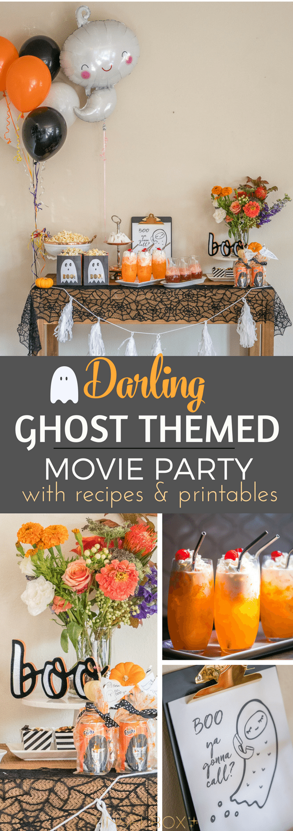 Darling Ghost themed movie party with Italian Cream Orange Soda Recipe