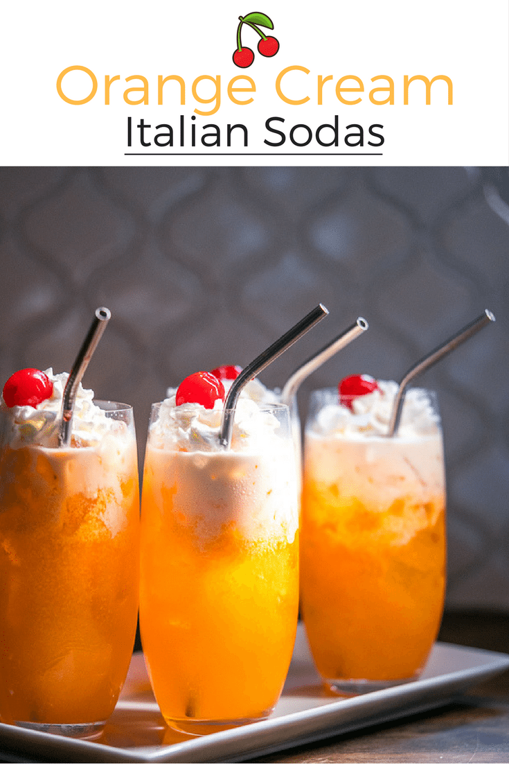 Orange Cream Italian Sodas are delicious made with bold colors and sparking Fanta flavor. This recipe is easy yet impressive. So delicious!