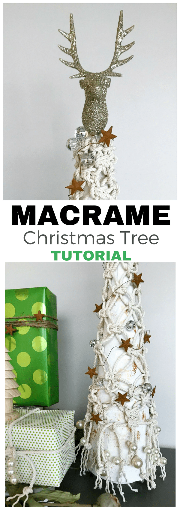 Check out this darling Macrame Christmas Tree tutorial. This creative DIY sparkles!