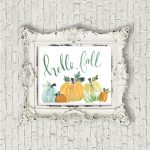 Watercolor Fall Pumpkin Printable