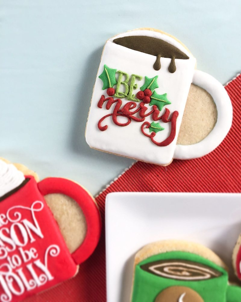 Christmas Mug Sugar Cookies too fun to eat