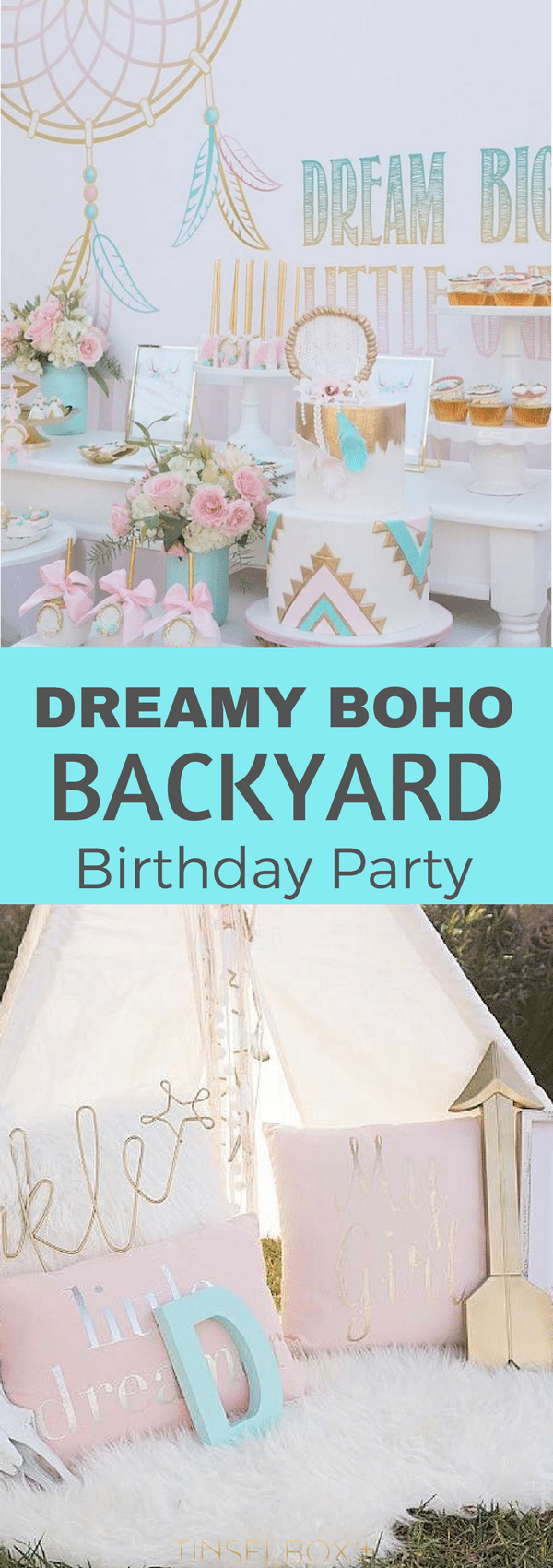 You will love this dreamy #bohemian backyard #birthday party.