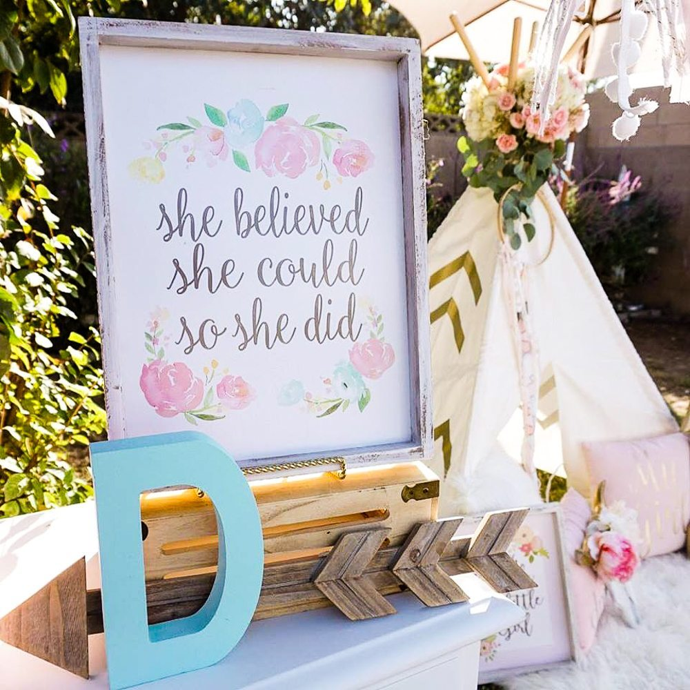 Boho Style Birthday Party Ideas Printable