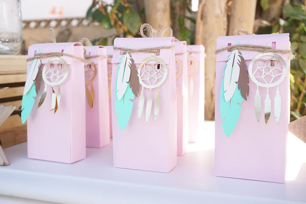 In Style Party Favors: Pretty In Pink Bohemian Style Birthday Party