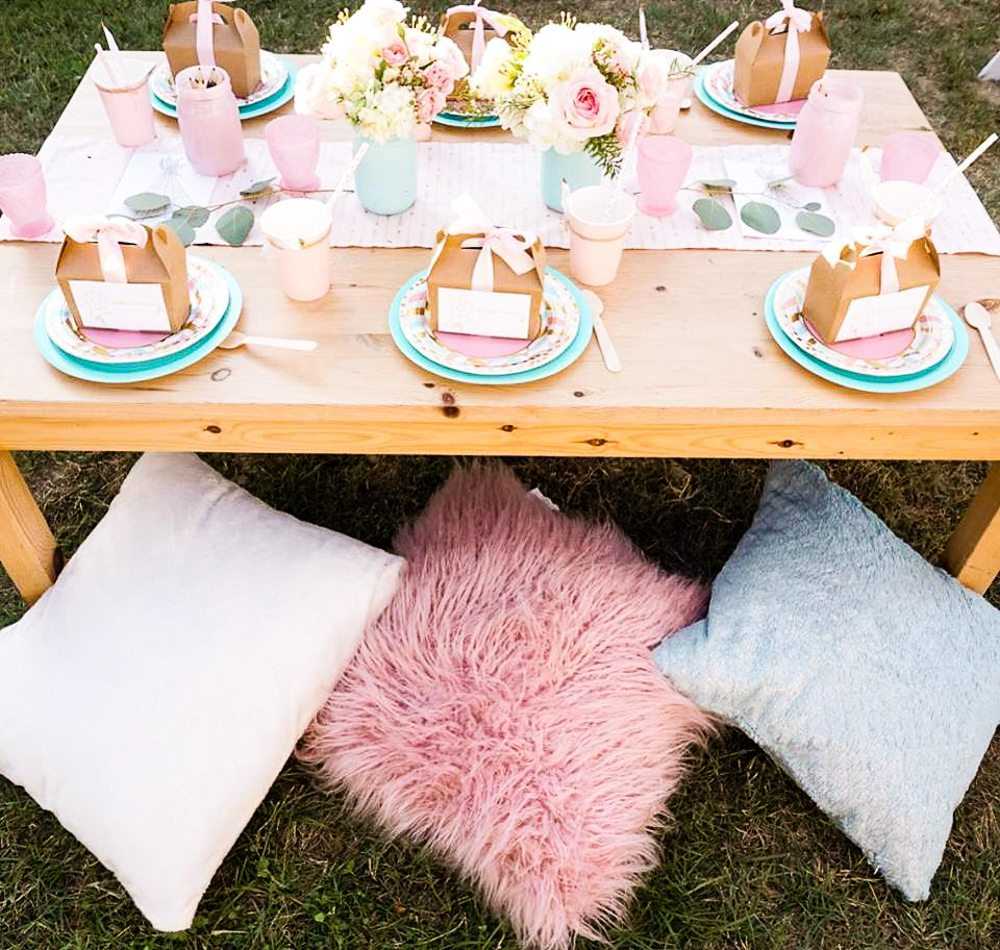 Boho Style Birthday Party Ideas Table Pillows