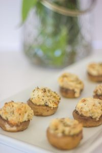 Creamy Italian Stuffed Mushrooms with Breadcrumbs