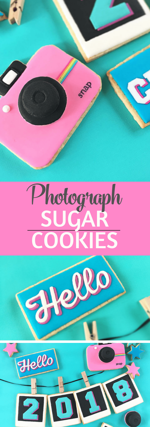 These photograph sugar cookies are good enough to click, snap and share.  #sugarcookies Snap your polariod and share your selfies.