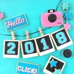 2018 New Years Photo Sugar Cookies