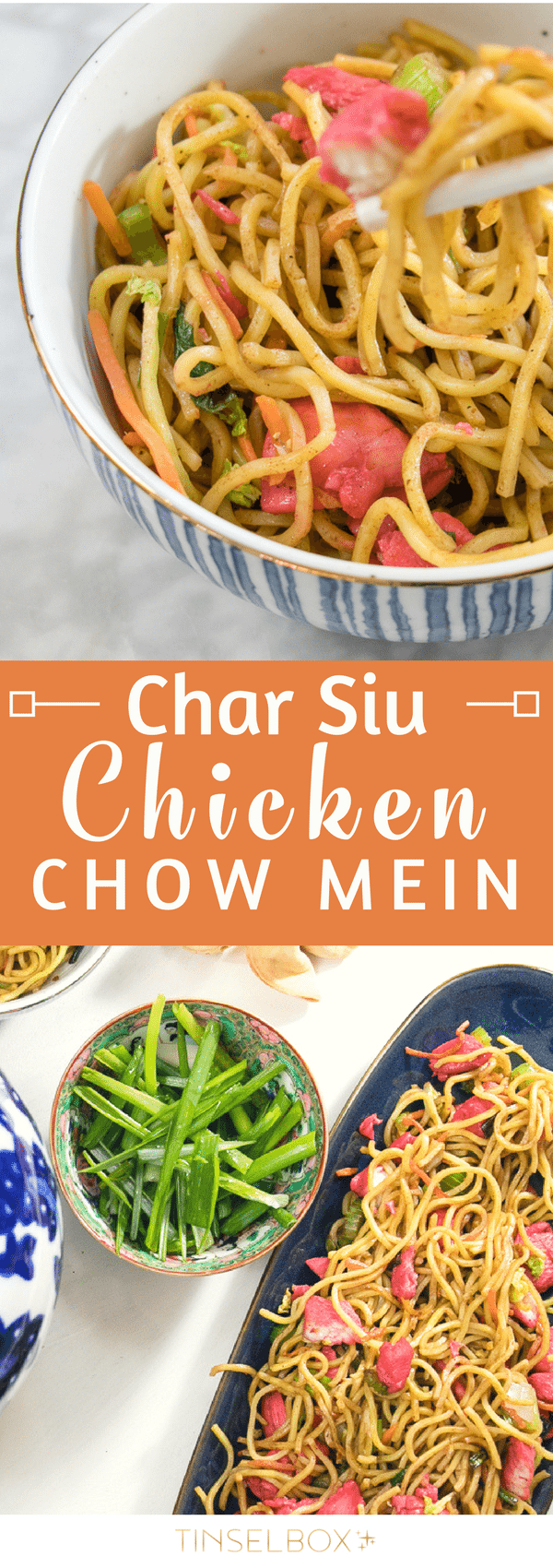 You will love this authentic Char Siu Chinese Chicken Chow Mein Recipe! It is so simple to make, and the barbecue flavors are restaurant quality. These silky soft noodles with tender flavorful Chinese chicken are utterly scrumptious. #sponsored by @worldmarket #worldmarkettribe